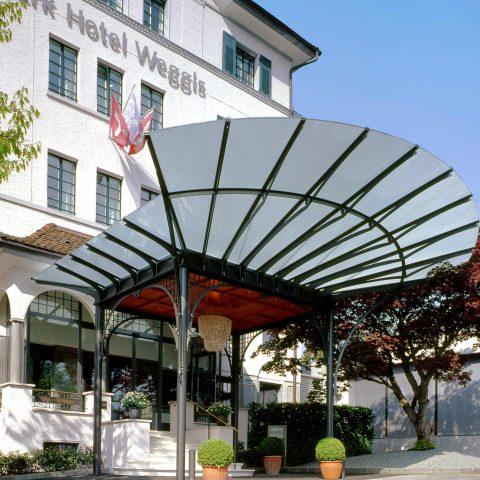 Vordach, Parkhotel Weggis